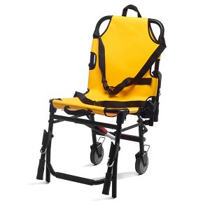 The orthopaedic foldable wheelchair is an equipment of manual drive, developed to be used as a transport in places of difficult access. This chair has for main purpose the transport of patients with reduced mobility.